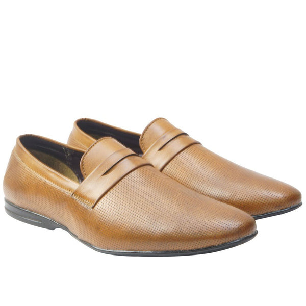 Tan Formal Slip On Shoes For Men's