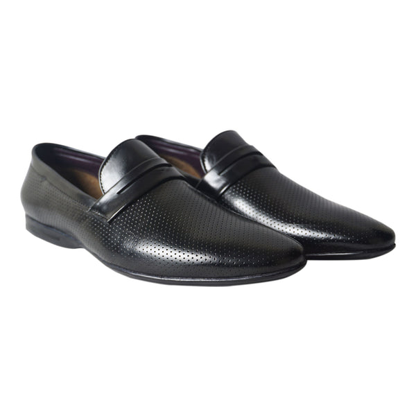 Black Formal Slip On Shoes for Men's
