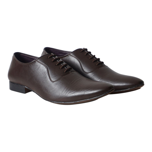 Brown Lace Up Formal Shoes For Men