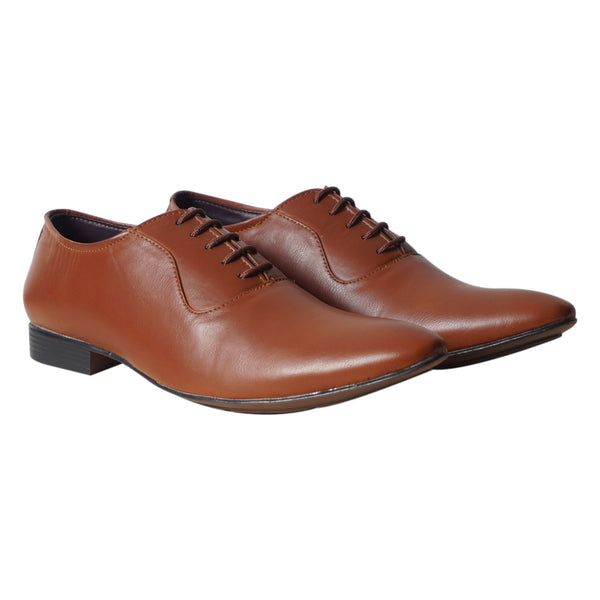 Tan Formal Lace Up Shoes For Men's