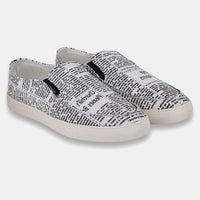 Black and White Causal Slip On Shoes