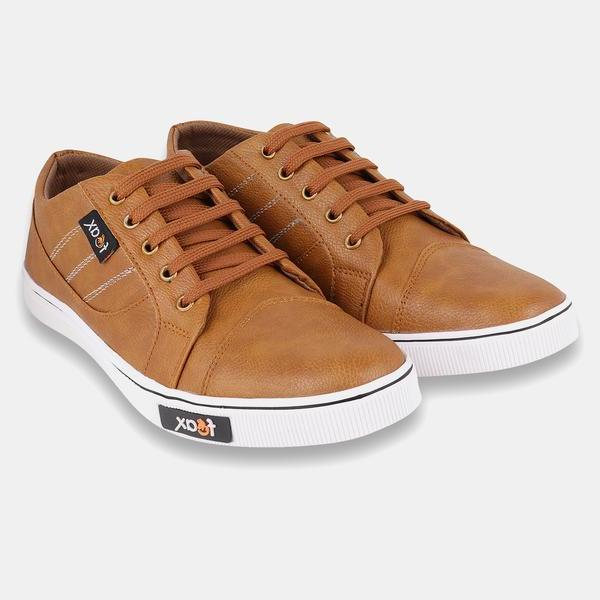 Tan causal Shoes For Men's