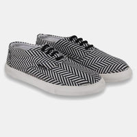 Black N White Casual Lace Up For Men's