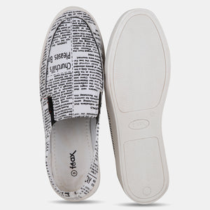 Foax Black and White Causal Slip On Shoes
