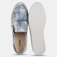 White N Blue Causal Slip On Shoes For Men's