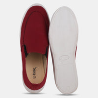 Maroon Causal Slip On Shoes