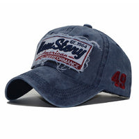 Spring Summer Baseball Cotton Embroidered Cap for Men's and Women's
