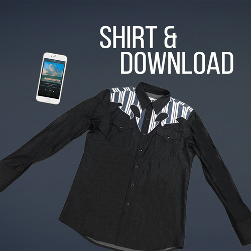 Boo Ray X H Bar C Black Denim Western Shirt + TAF Digital Download