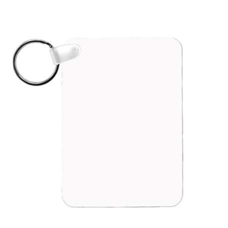 "Rectangle Portrait 2-Sided Key Ring Tag - 1.6"" x 2.25"" x .030"" Aluminum - Instafreshener"