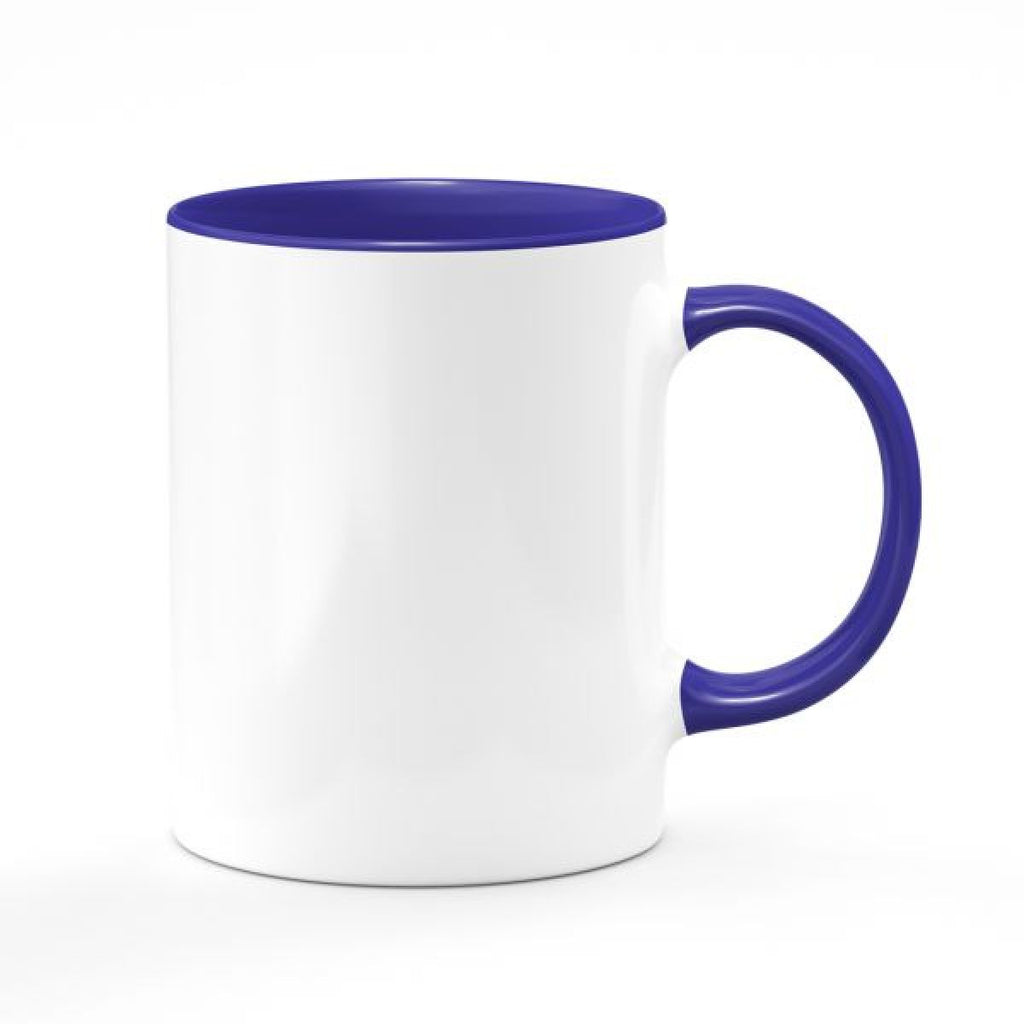 11oz. Ceramic Mug - Colored Handle & Inside - Instafreshener