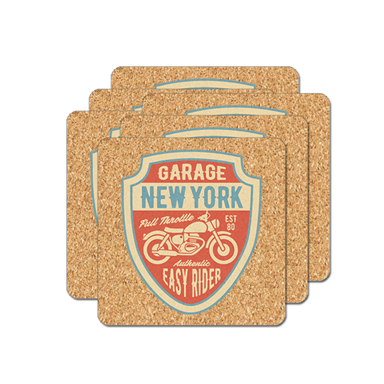 "Cork Coaster - 4"" Square (6-pack) - Instafreshener"