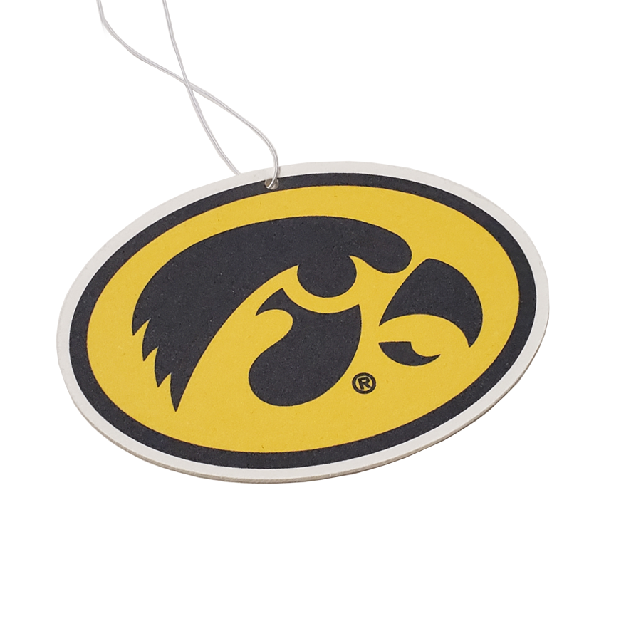 Iowa Hawkeyes - Black on Gold Hawkeyes Oval Air Freshener - Instafreshener