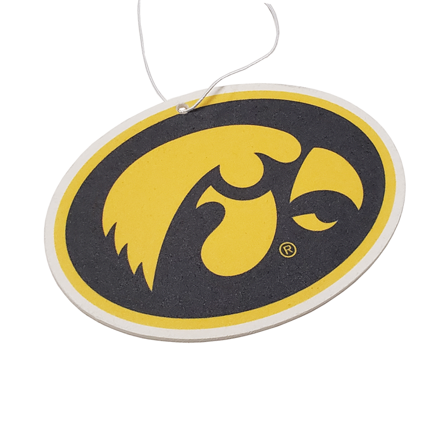 Iowa Hawkeyes - Gold on Black Hawkeyes Oval Air Freshener - Instafreshener