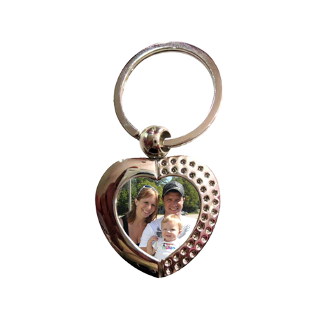 "Heart Metal Key Ring Tag - 1.375"" x 1.75"" - Instafreshener"