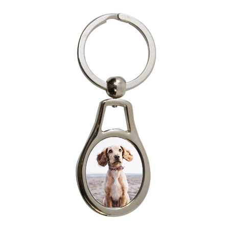 "Oval Metal Key Ring Tag - 1.3"" x 2.3"" - Instafreshener"