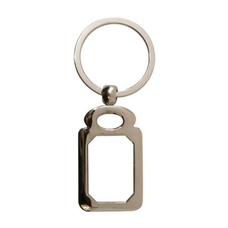 "Rectangle Metal Key Ring Tag - 1.1"" x 1.8"" - Instafreshener"