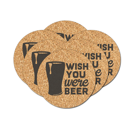 "Cork Coaster - 4"" Circle (6-pack) - Instafreshener"