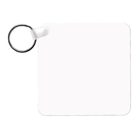 "Square 2-Sided Key Ring Tag - 2.25"" x 2.25"" x .030"" Aluminum - Instafreshener"