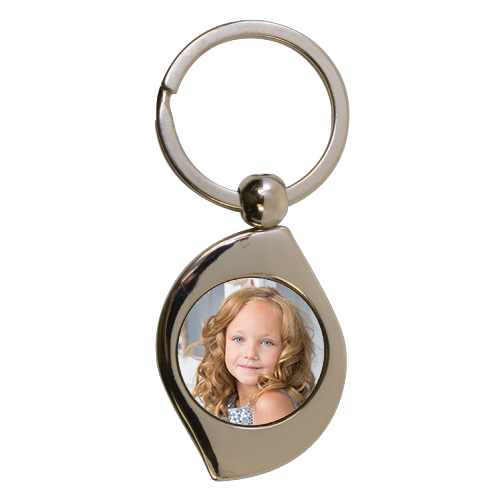 "Swirl Metal Key Ring Tag - 2"" x 1.4"" - Instafreshener"