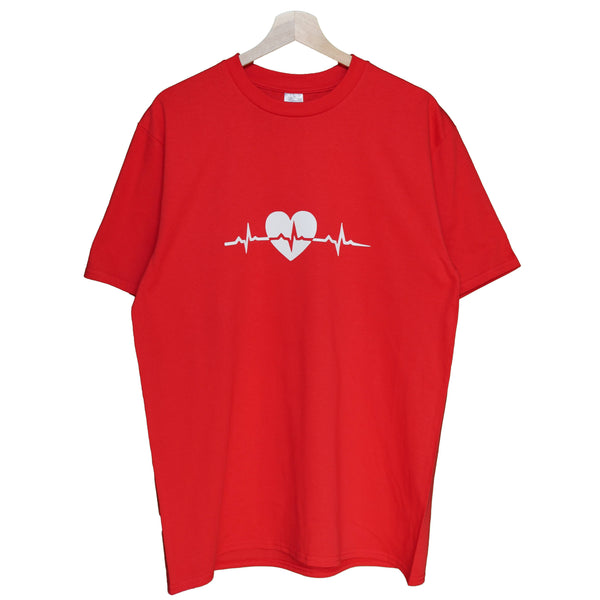 NYBOUTIN-Heartbeat Shirt: Red