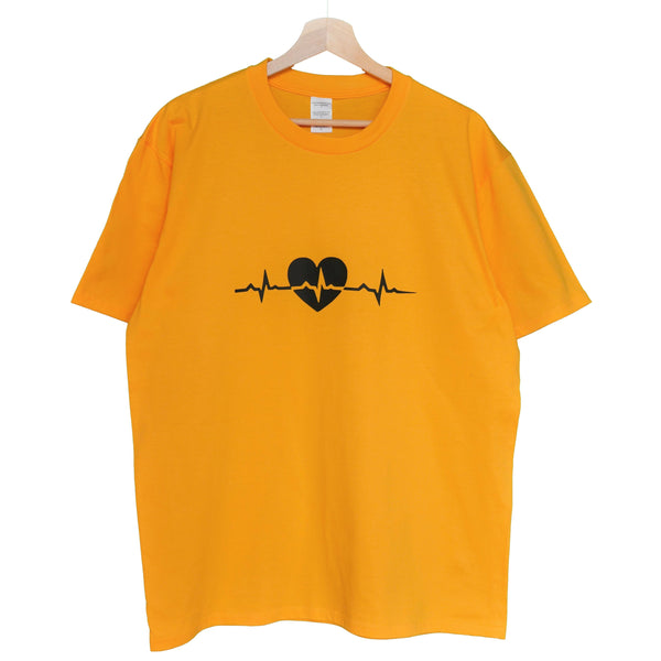 NYBOUTIN-Heartbeat Shirt: Gold