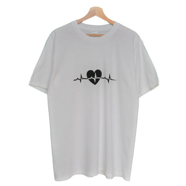 NYBOUTIN-Heartbeat Shirt: White