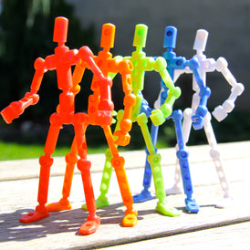 ModiBot Mo DIY poseable figure kit- Classic 5-color set