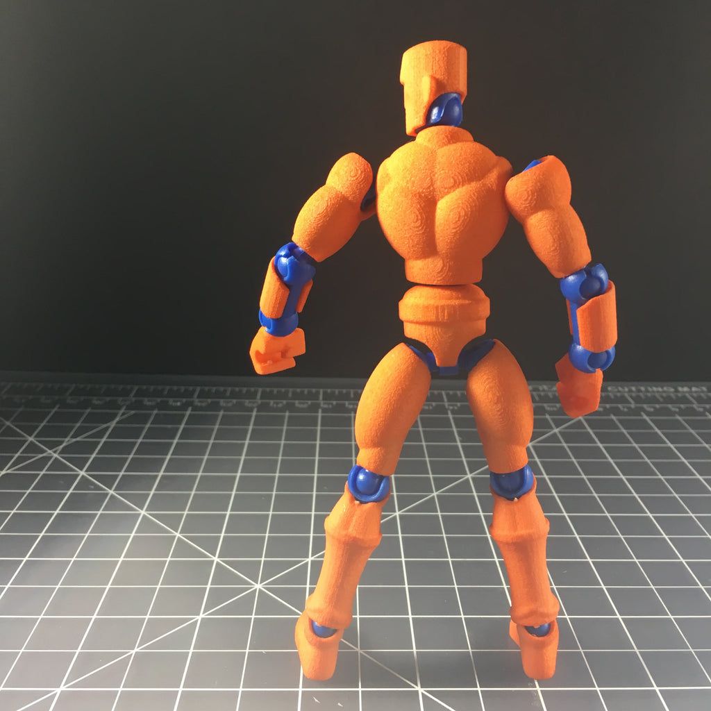 Orange Exo-Skin w/Mo figure frame