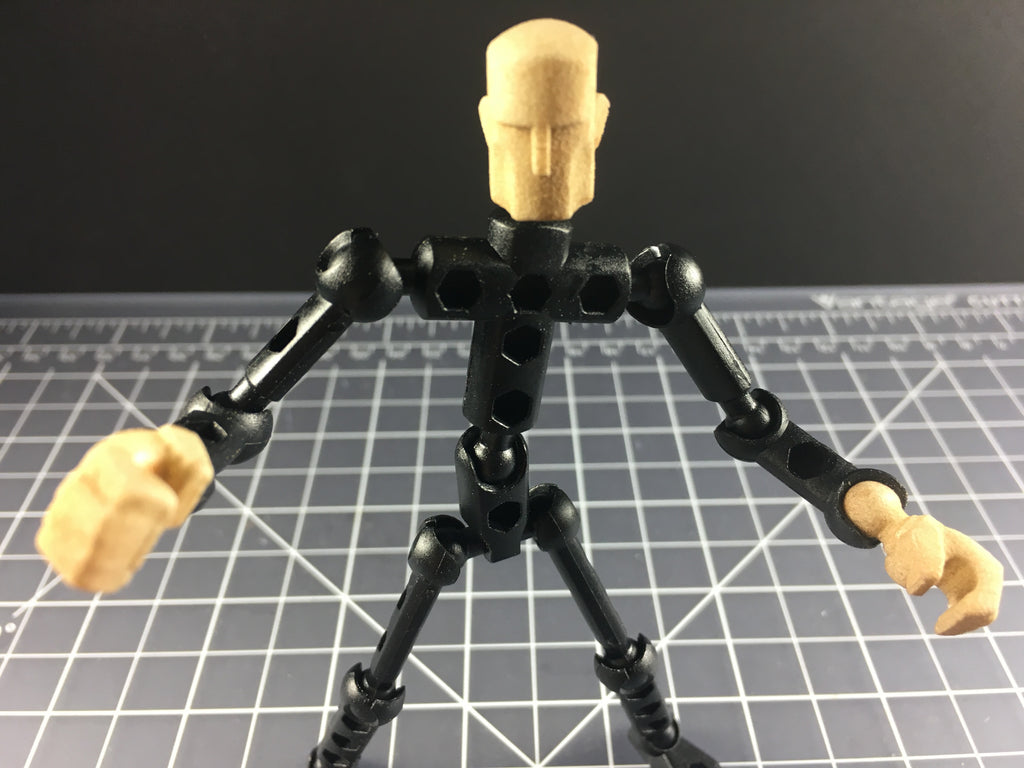 Dystopian (grimey) Head and Hands for Human Exo-Skin
