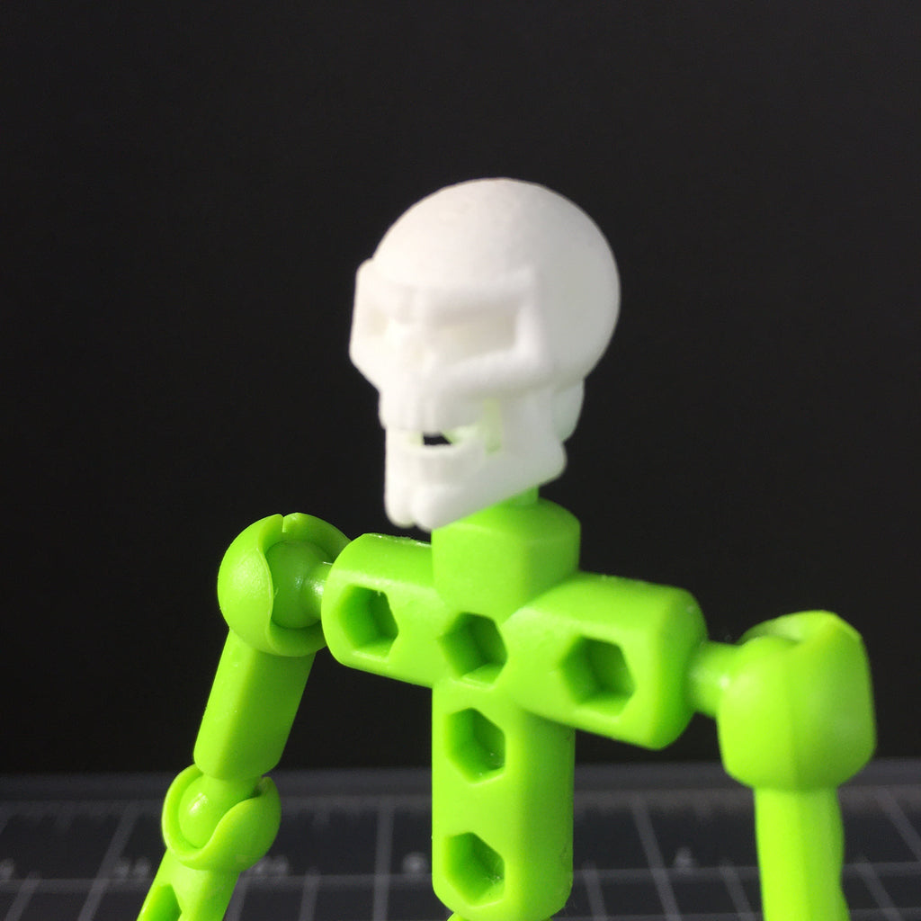 Skull character head for ModiBot figures