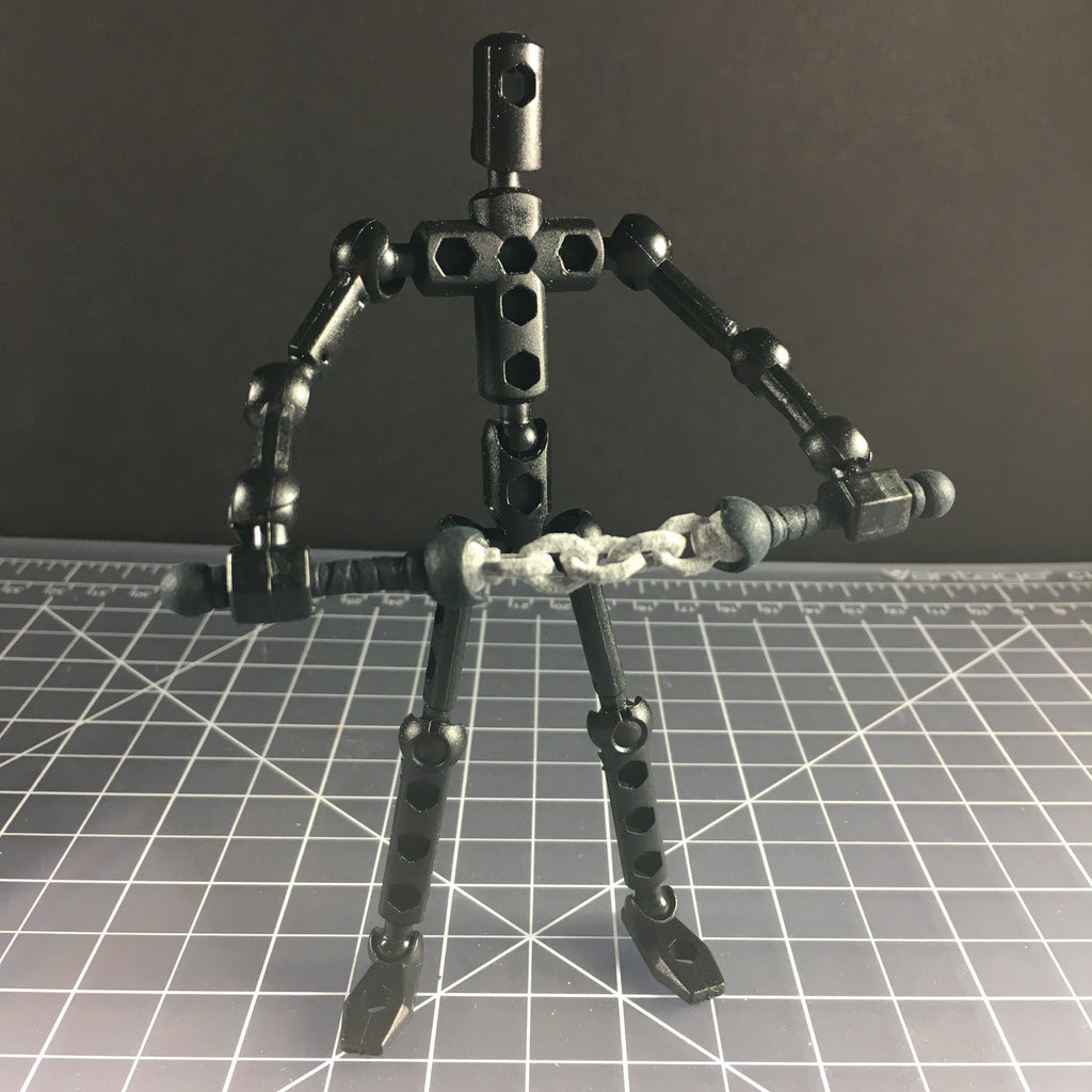 Chained nunchuks for ModiBot figure kits