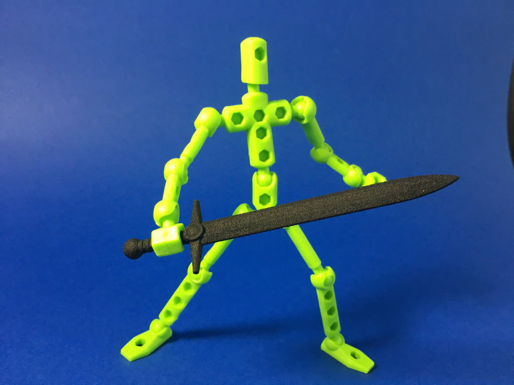 Medieval Broad Sword for ModiBot figure kits