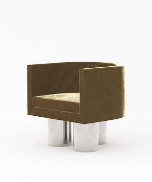 Arc Chrome Armchair