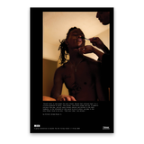 'Breath tucks in and weighs the eyes closed...' Poster Print by Elliott Jerome Brown Jr.