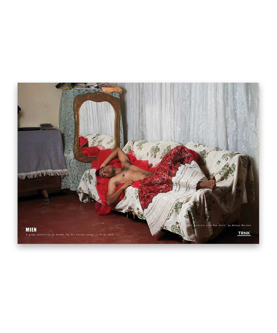 'Self Portrait with Red Skirt' Poster Print by Nelson Morales