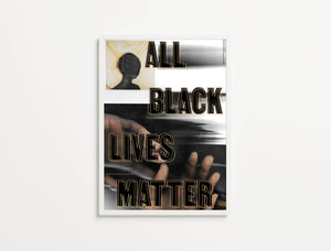 Hands In The Studio For All, Black Lives Matter, Print Ain't Dead Edition - Of Original Work, Studio Hands #1 (Featuring Polaroid Of Braid Hijab Mask), 2020