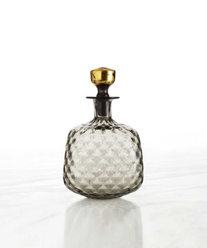 Hand-Blown Diamond Whiskey Decanter, Low