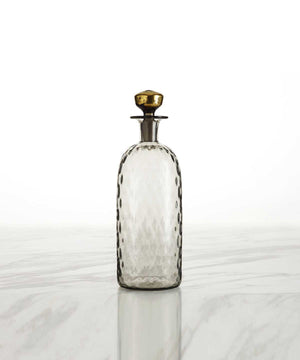 Hand-Blown Diamond Whiskey Decanter, Tall