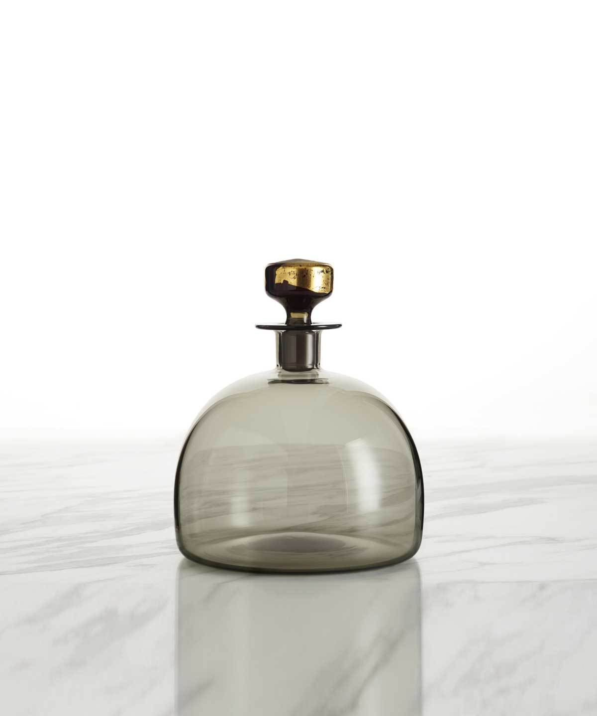 Hand-Blown Whiskey Decanter, Wide