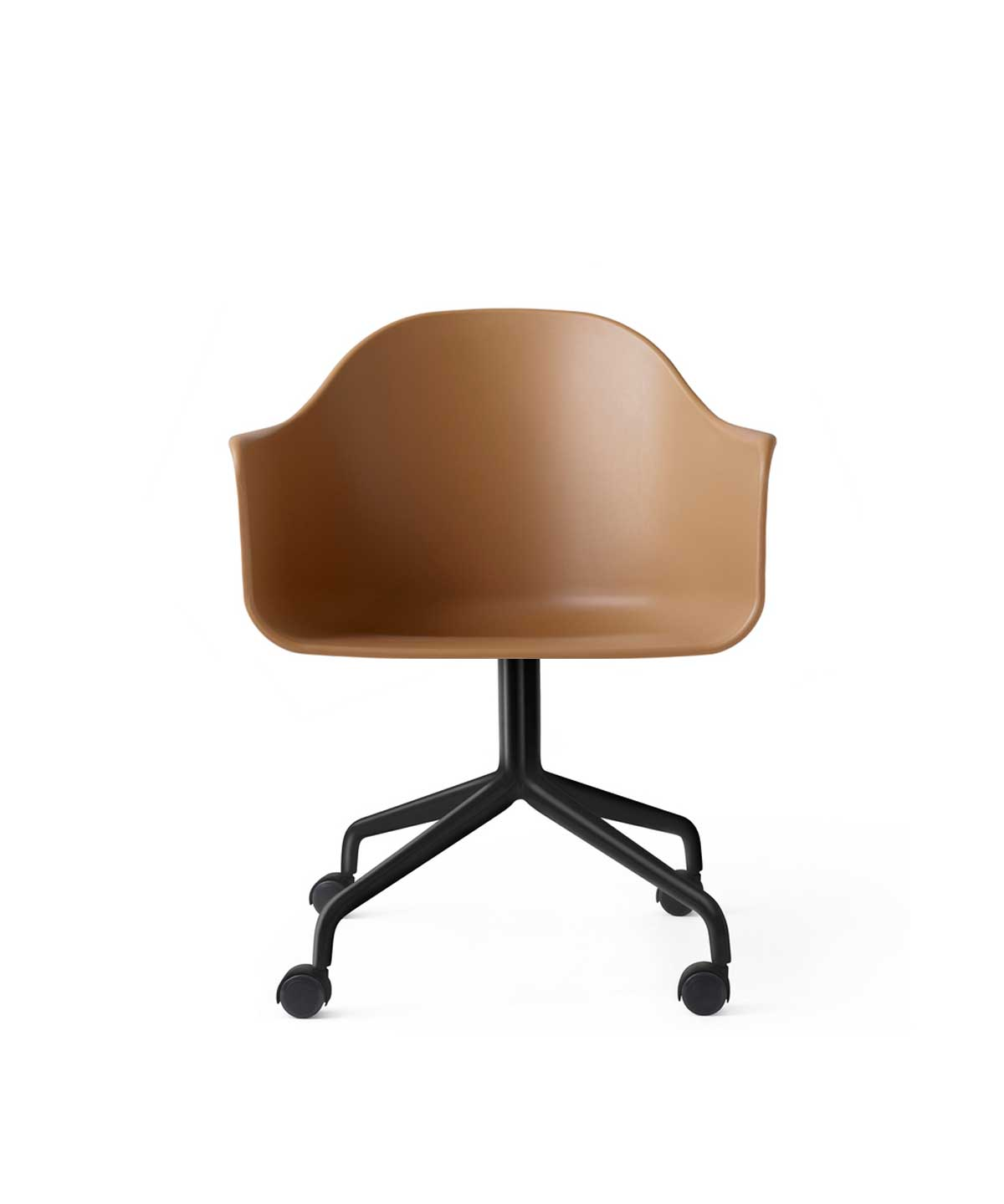 Harbour Office Chair with Casters, Plastic Shell