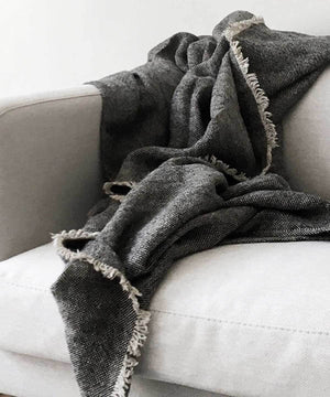 Ancien Linen Throw by Loloi | TRNK