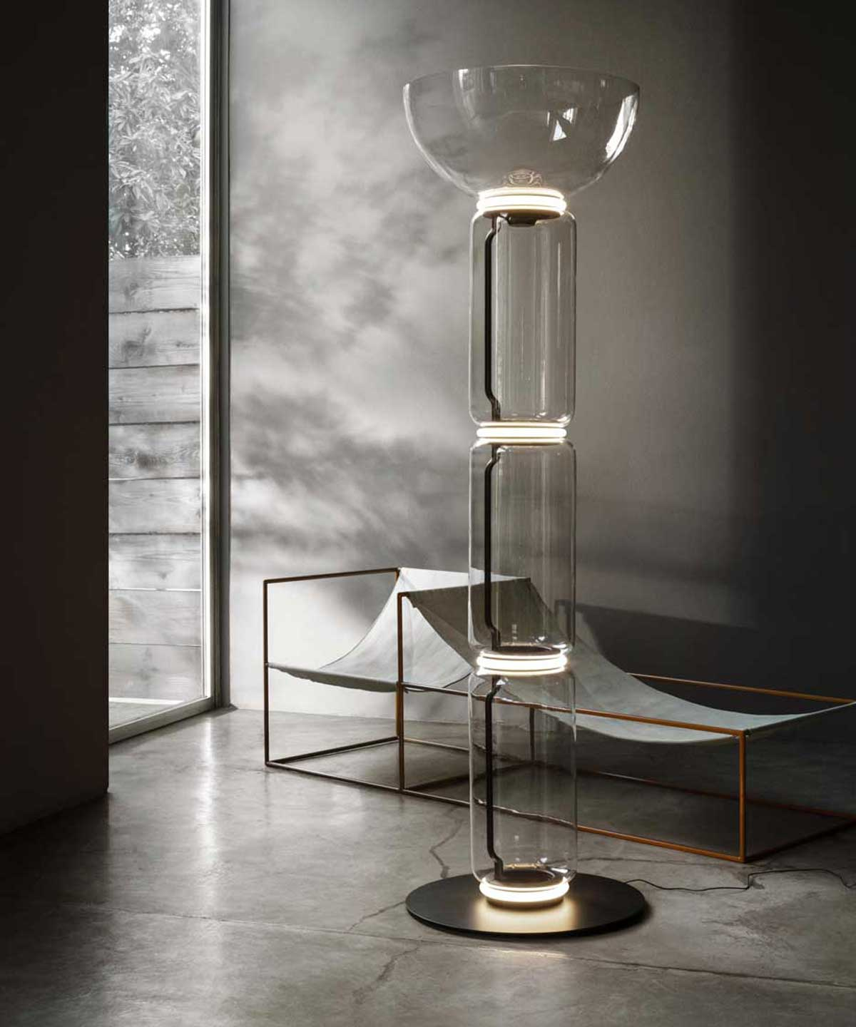 Noctambule Floor Lamp with Bowl Shade