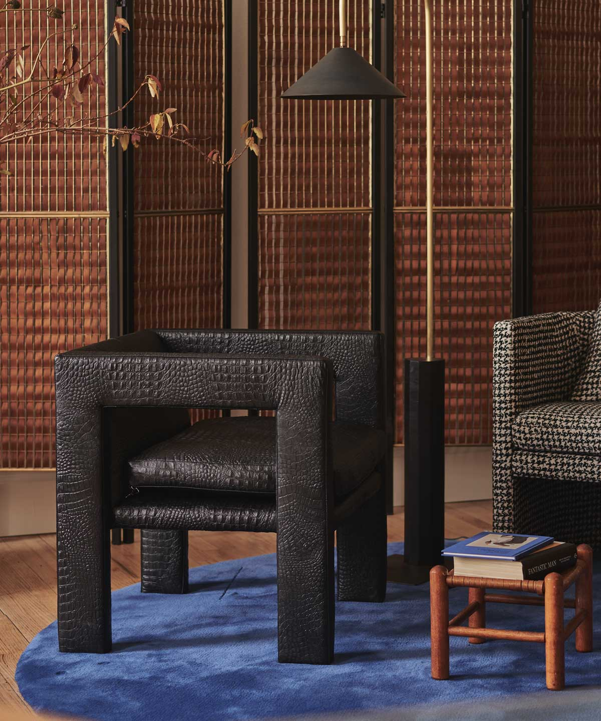 Special Edition Angle II Armchair in Crocodile Leather