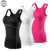 Afbeelding in Gallery-weergave laden, New Yoga Tops Women Sexy Gym Sportswear Vest Fitness tight woman clothing Sleeveless Running shirt Quick Dry White Yoga Tank Top