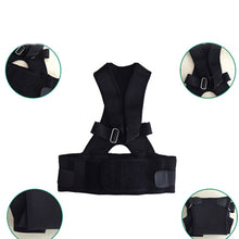 Afbeelding in Gallery-weergave laden, Adjustable Neoprene Posture Back Shoulder Corrector Support Brace Vest Belt