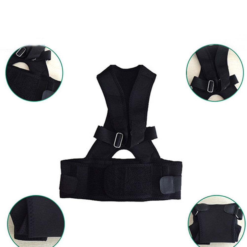 Adjustable Neoprene Posture Back Shoulder Corrector Support Brace Vest Belt
