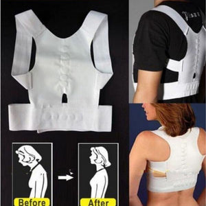 Unisex Magnetic Therapy Posture Corrector Body Shaper Back Pain Belt Brace Shoulder Support Belt Corrector