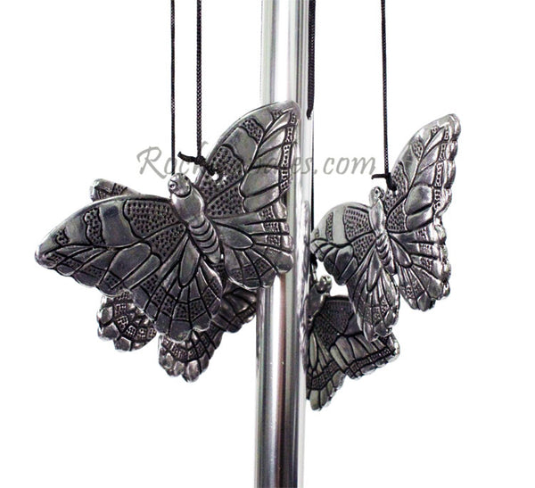 "15"" Bell top Butterfly pewter chime"