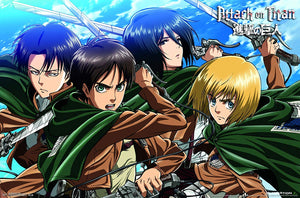 "Attack on Titan-Swords Premium Wall Poster, 22"" x 34"""