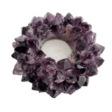 Large Amethyst Crown Point Candle Holder D-PCH-1